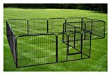 Large 16 Panels Pet Dog Cat Metal Exercise Barrier Fence Playpen Kennel Yard New Top Selling Item