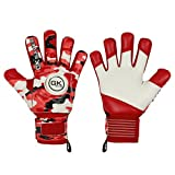 GK Saver Soccer Goalkeeper Goalie Camo Red Negative Cut Goalie Gloves Kids FS