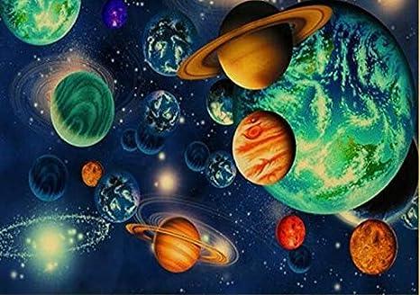DIY 5D Pintura Diamante Painting Kit Grande Cuadro Planeta universo 30x60cm RedondoTaladro Completo Adultos Niño Cristal Rhinestone Puzzle Punto Cruz Bordado Art Home Pared Decor Manualidades Q8382