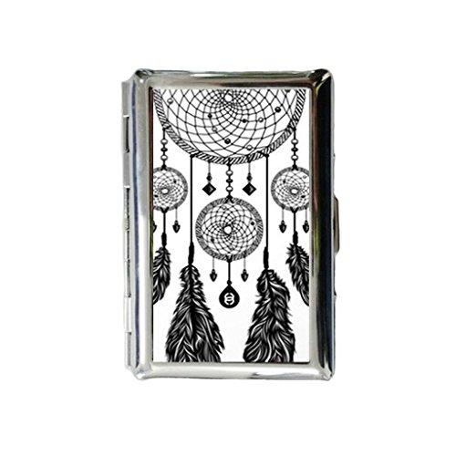 (Treasure Design Funny Dreamcatcher Custom Rectangle Stainless Steel Cigarette case includes Bewild Bracelet)