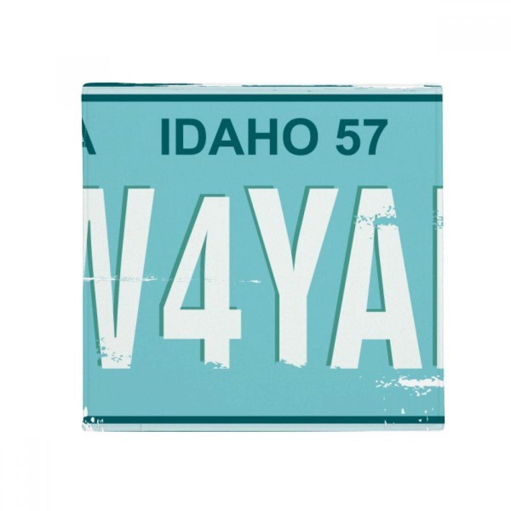 DIYthinker American USA Car Licence Plate Number Anti-Slip Floor Pet Mat Square Home Kitchen Door 80Cm Gift