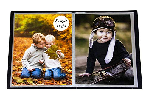 - 2PO Portfolio - Presentation Display Photo Album Holds 48 Pictures, Space Saver Album with Slip-in Pockets 11 by 14 Inch
