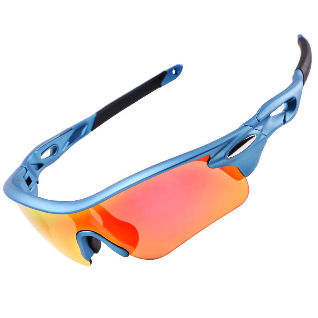 Mchoice Wheel UP MTB Bicycle Bicycle Road Sunglasses Anti-UV Glasses Safety Glasses (Blue)