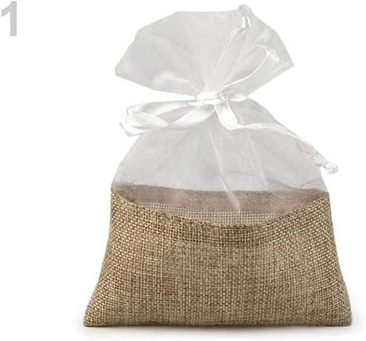10pc 1 Yute Blanco de Organza Bolsa de Regalo de 13x18 Cm, Satén ...