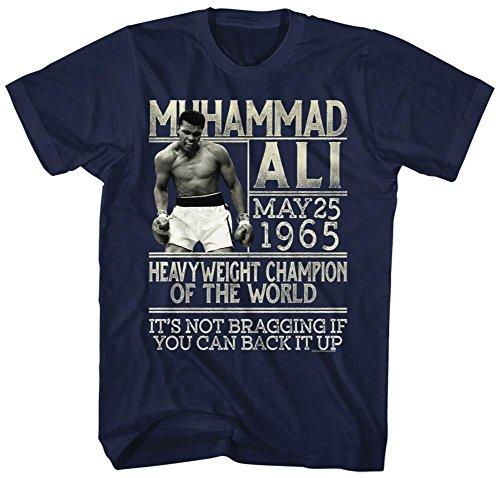 Muhammad Ali- Back Up The Claim T-Shirt - Blau