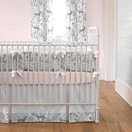 Carousel Designs Pink and Gray Woodland Crib Bumper by Carousel Designs (Image #1)