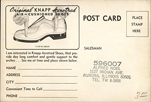 Review Vintage Advertising Postcard: Knapp