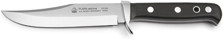 Puma Knives Puma Sedona Bowie Knife with Ebony Wood Handle, Black, 5
