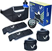 Verified Walking weights Running Hydration Belt- Pair of Ankle and wrist weights, Poids Cheville, Leg weights