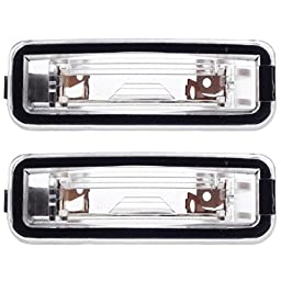 HERCOO License Plate Light Lamp Lens for 2000 2001 2002 2003 2004 2005 2006 2007 Ford Focus(Qty: 2, RH&LH)