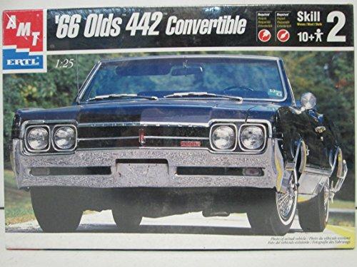 Ertl Car (1999 ERTL Company AMT ERTL '66 Olds 442 Convertible Model Kit 1:25)