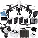 DJI Inspire 1 v2.0 Quadcopter with 4K Camera and 3-Axis Gimbal (Certified Refurbished) + Remote Controller Monitor Hood + Intelligent Flight Battery + 32GB microSDHC Card Bundle