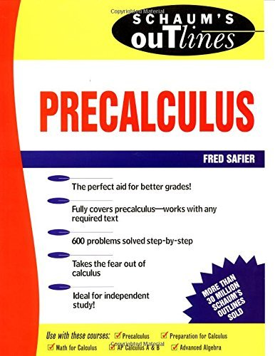 Schaum's Outline of Precalculus by Fred Safier (1997-10-01)