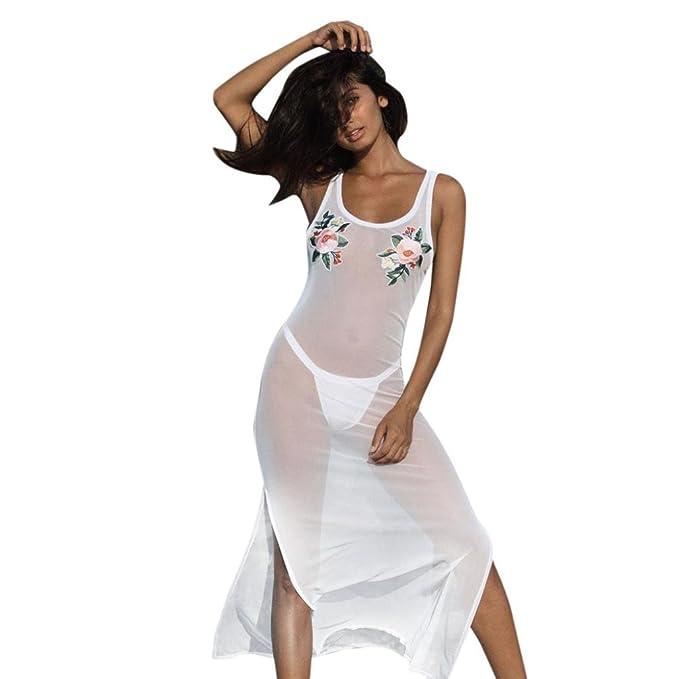 960ec7ee38 beautyjourney Copricostume Mare Donna Lungo Estate Pizzo Vestiti Vestito  Donna Estivo Lungo Abito Donna Lungo Elegante Costumi Bikini Costume Donna  ...