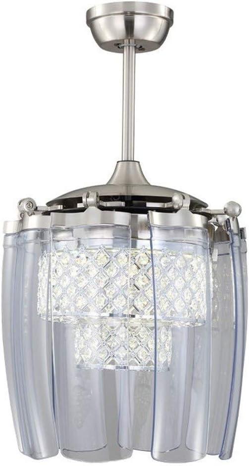 Luz del ventilador Moderna a distancia del techo plegable de luz LED minimalista Silencio Crystal control del ventilador de la lámpara Moda Ventilador de techo invisible con sala Luz Ventilador Ventil