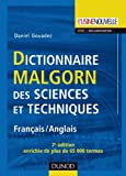 Dictionnaire Malgorn des sciences et techniques - 7ème édition - Français/Anglais