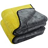 OAN All Purpose Microfiber Cloth for Cleaning, Dusting, Detailing & Polishing (All Vehicles, Office, Kitchen, Home) | 800 GSM | 45X45 cm (Pack of 2) (Random Color)