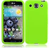 Lite Green Soft Premium Silicone Case Cover Skin Protector for LG Optimus G Pro E980 (by AT&T) with Free Gift Reliable Accessory Pen