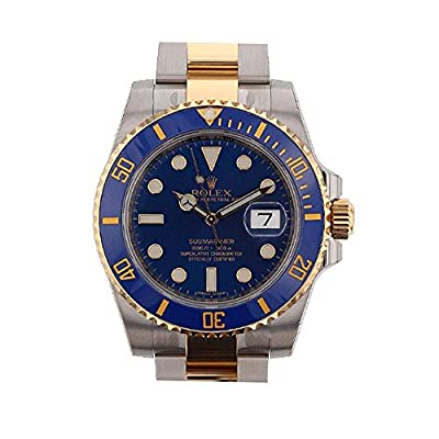 Rolex Submariner Blue Dial Gold And Steel Watch 116613