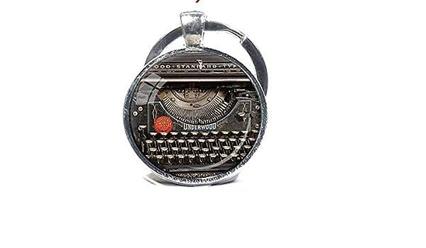 Vintage máquina de escribir llavero grabador grabadora de ...
