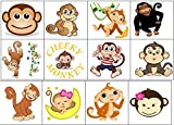 Monkey Collection (Monkey Temporary Tattoos)
