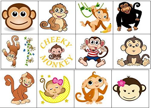Monkey Collection (Monkey Temporary Tattoos) by KazCreations