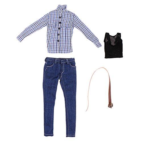 [해외]SunniMix 16 스케일 셔츠 > 청바지 의류 12 ` ` 뜨거운 장난감 Phicen 쿠 메크 여성 바디 / SunniMix 16 Scale Shirt & Jeans Clothing for 12`` Hot Toys Phicen Kumik Female Body