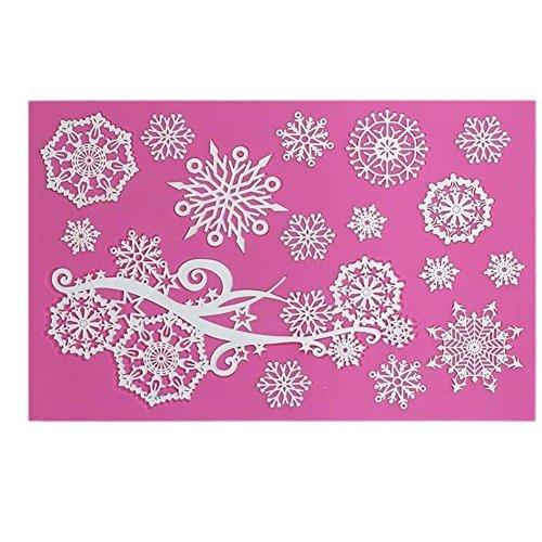 Youzpin Silicone Lace Snowflake Pattern Fondant Cake Decoration Tools Cake Embossed Decorating Mold Chocolate Sugarcraft Soap Lace Mat Molds Cake Molds Pastry Baking (Snowflake Chocolate Cakes)