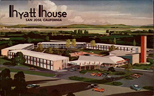 hyatt-house-san-jose-california-original-vintage-postcard