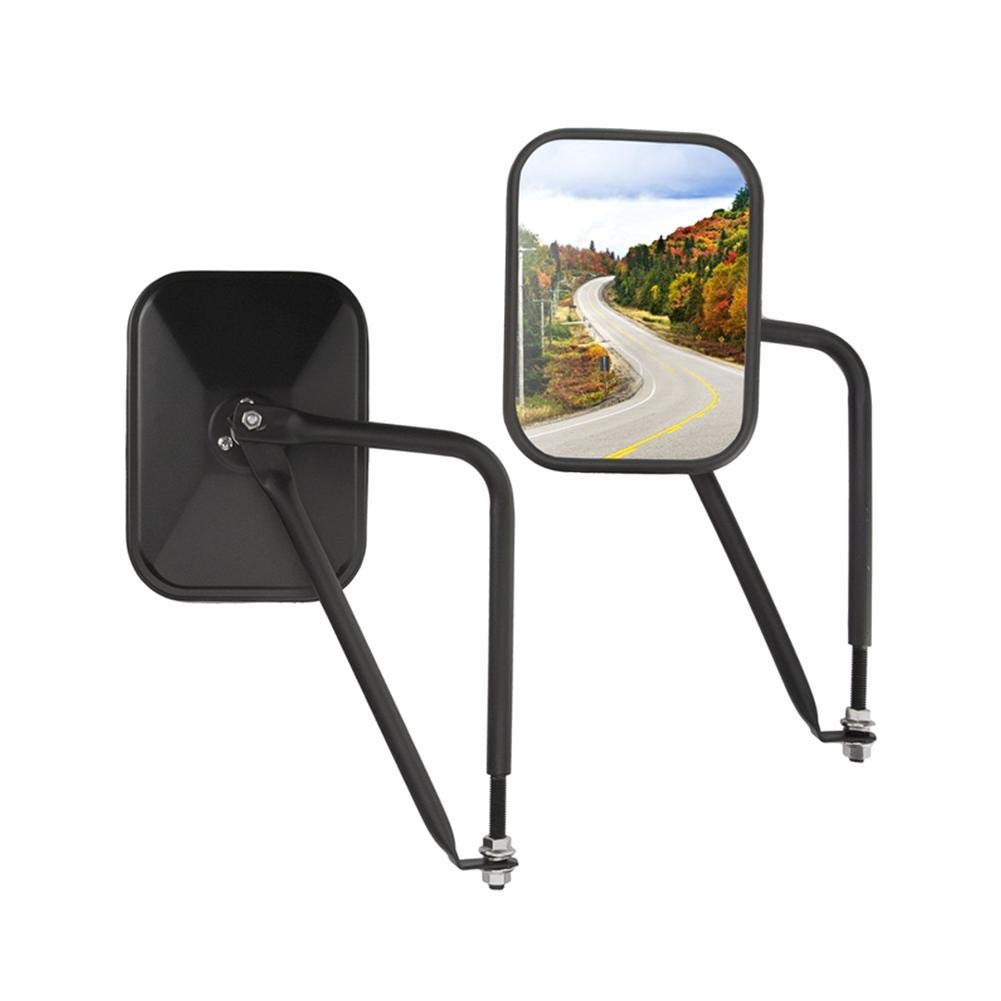 Cherry-Lee 2 Piece Rearview Mirror for Jeep Wrangler JK with Hinge Rectangular Shockproof Car Accessories