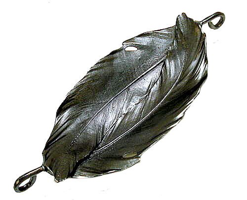 Double overlay Feather Fish by Michael Michaud ~Table Art ~ for Silver Seasons