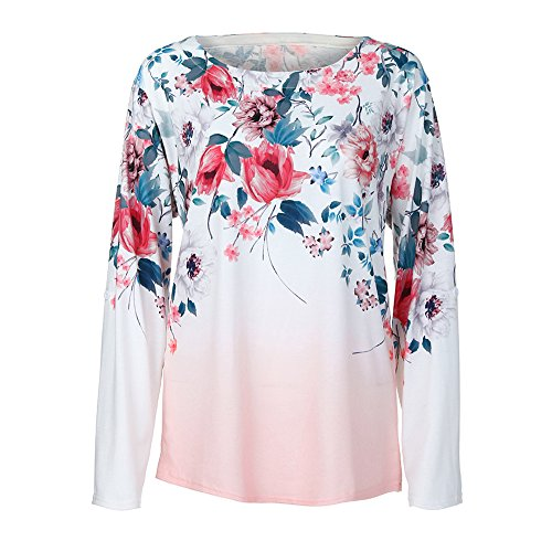 Manches Imprimer Longues Blouse Aimee7 Rose Haut Chemise Chemisier Femme Taille Grande pqwEEI4Hc