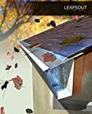"LeafsOut WIDE 7"" DIY Micro Mesh Rain Gutter Guard 100 Feet. Install it yourself Gutter Screen Cover System"