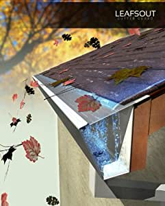 """LeafsOut WIDE 7"""" DIY Micro Mesh Rain Gutter Guard 24 Feet. Install it yourself Gutter Screen Protection Cover System"""