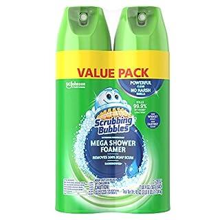 Scrubbing Bubbles Mega Shower Foamer and Disinfectant Aerosol, 20 Oz, Pack of 2 (total 40 oz)