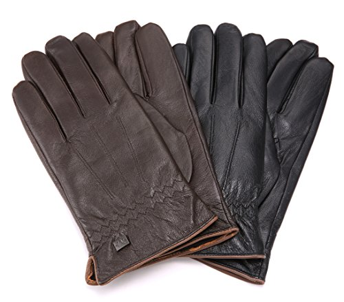 Marino Mens Warm Fashion Leather Gloves, Extreme Cold