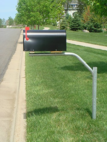 SwingSAFE Mailbox Support Galvanized Steel Mailbox Post Swings Away When Impacted