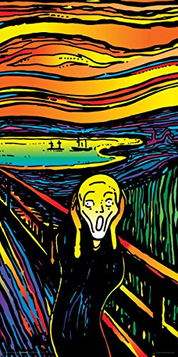 Howie Green The Scream Edvard Munch Decorative Psychedelic Pop Modern Art Poster Print