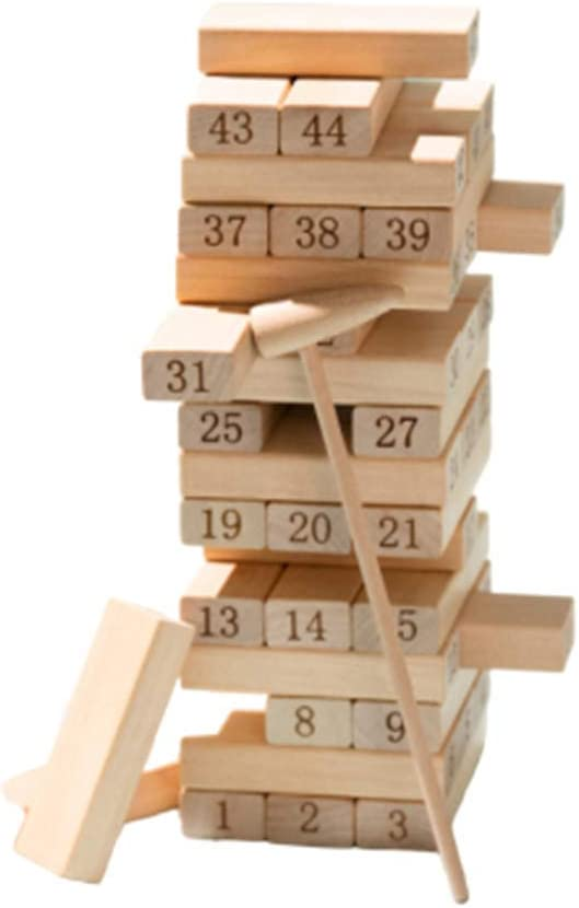 TISESIT INDOOR Tablero De Apilamiento De Madera,Jenga Colores Timber Tower Tumbling Blocks Juego Jenga Juego De Mesa Niños Y Adultos, Diversión Educación Juguetes Color Match Playset,Wood Color: Amazon.es: Deportes y aire libre