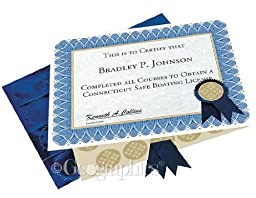 Geographics Blue Spiral Certificate Kit, 8.5 x 11 Inches, Blue, 25 Pack (47404)