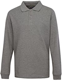 PREMIUM Men's Long Sleeve Polo Shirts – Stain Guard Polo Shirts for Men