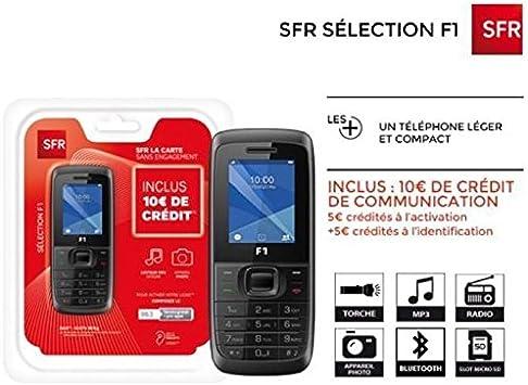 téléphone à carte prépayée PACK PRET A L'EMPLOI PRÉPAYÉE SFR LA CARTE F1: Amazon.fr: High tech