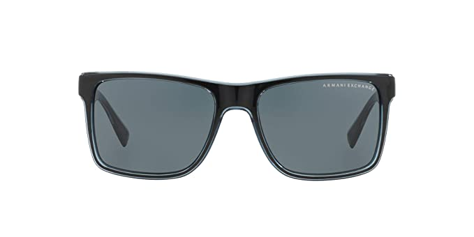 d5b48f84b6a3 Armani Exchange 0ax4016 Square Sunglasses black transparent blue grey 56.0  mm