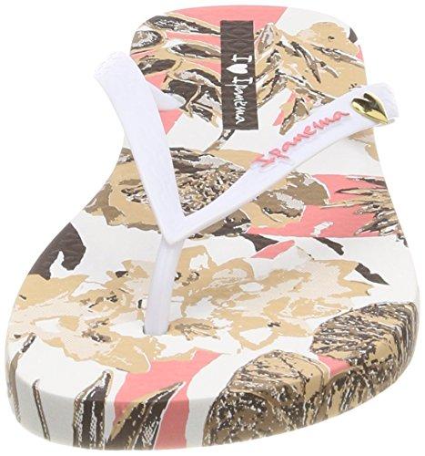 Ipanema Damen Summer Fem Zehentrenner Mehrfarbig (Pink/White)