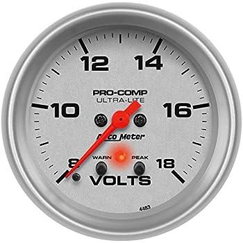 RERERPTG 2 in 1 Tachometer Gauge Digital RPM Voltmeter for Auto Motor Rotating Speed