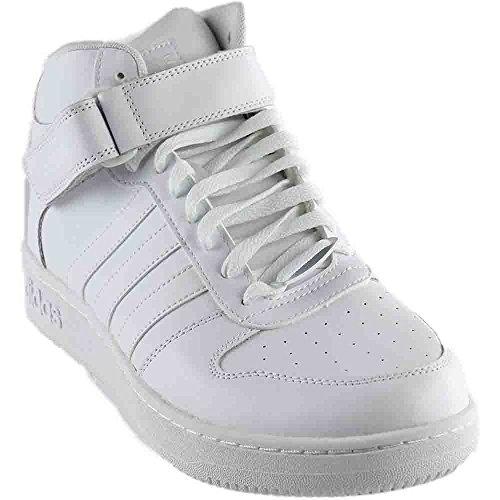 adidas NEO Men's Team Court Mid Basketball Shoes, White/White/White, (10 M (Sport Mid Basketball Shoe)