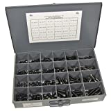 NEF Socket Head Cap Screw Assortment, Coarse Thread, 1/4, 5/16, 3/8, and 1/2 Inch Sizes, 408 Piece Set
