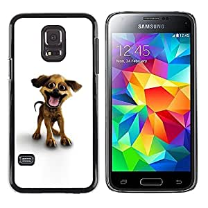 Be Good Phone Accessory // Dura Cáscara cubierta Protectora Caso Carcasa Funda de Protección para Samsung Galaxy S5 Mini, SM-G800, NOT S5 REGULAR! // Funny Happy Puppy Dog