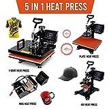 "15""x15"" TUSY Heat Press Machine Pro 5 in 1 Heat"