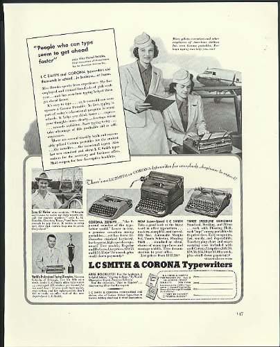 People who type get ahead faster L C Smith & Cornoa for sale  Delivered anywhere in USA